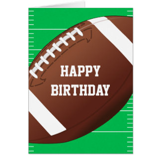 Football Sports Fan Birthday Card