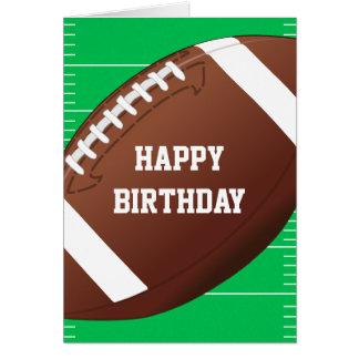 Football Sports Fan Birthday Greeting Card