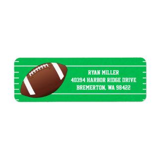 Football Sports Field Label