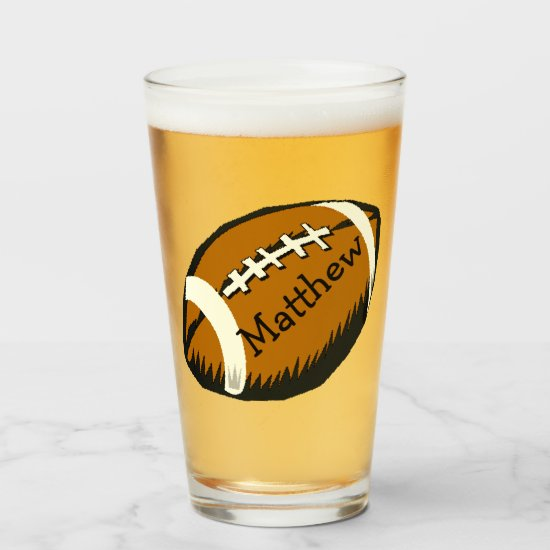 Football Sports Glass Tumbler
