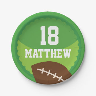 Football Sports Personalized Party Plates