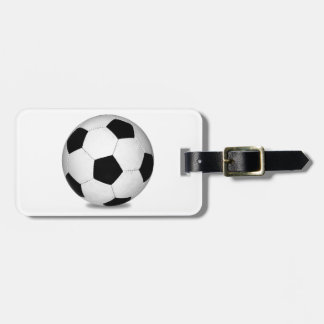 Football sports play games outdoor fun happy kids travel bag tags