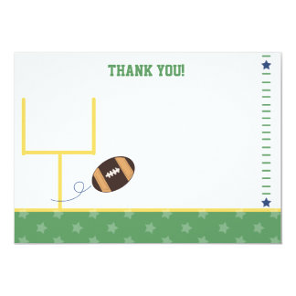 Football Sports Theme Flat Thank You notes Card