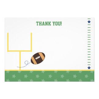 Football Sports Theme Flat Thank You notes Invite
