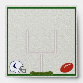 Football Square envelope customizable