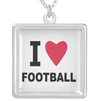 FOOTBALL SQUARE PENDANT NECKLACE