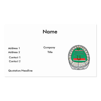 football stadium graphic Double-Sided standard business cards (Pack of 100)