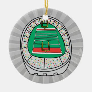 football stadium graphic ceramic ornament
