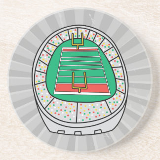 football stadium graphic coaster