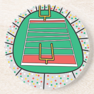 football stadium graphic drink coaster