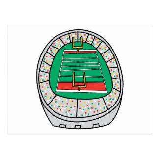 football stadium graphic postcard
