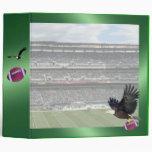 Football Stadium Green Binder