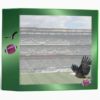 Football Stadium Green Binder