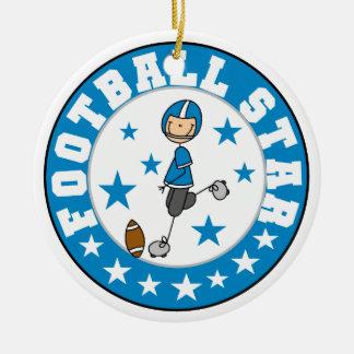 Football Star Christmas Ornament