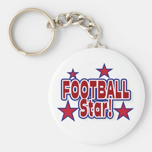 Football Star Red, White, and Blue Key Chain