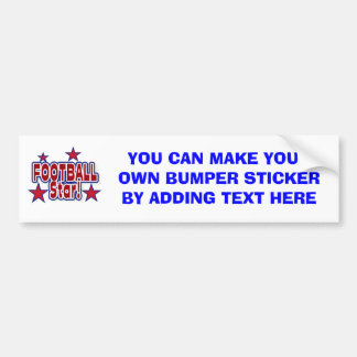 Football Star Red, White, and Blue T-shirts Bumper Sticker