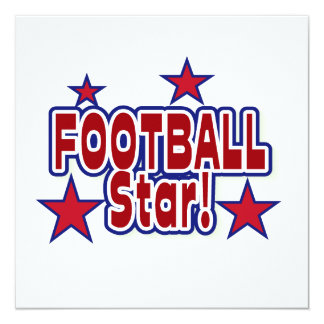 Football Star Red, White, and Blue T-shirts Invitation