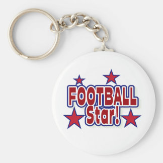 Football Star Red, White, and Blue T-shirts Keychain
