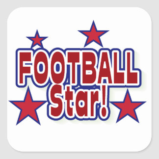 Football Star Red, White, and Blue T-shirts Square Sticker