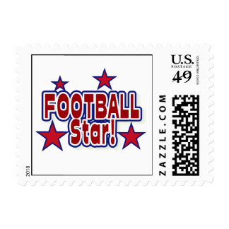 Football Star Red, White, and Blue T-shirts Stamps