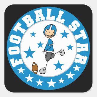 Football Star Square Sticker