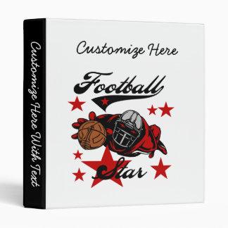 Football Star T-shirts and Gifts Vinyl Binder