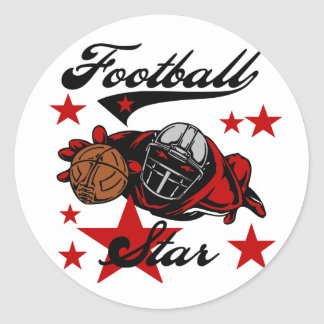 Football Star T-shirts and Gifts Classic Round Sticker