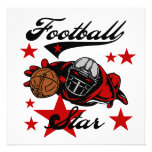 Football Star T-shirts and Gifts Personalized Invitation