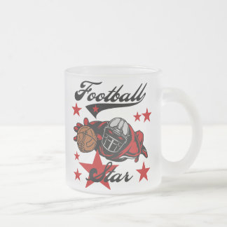 Football Star T-shirts and Gifts 10 Oz Frosted Glass Coffee Mug