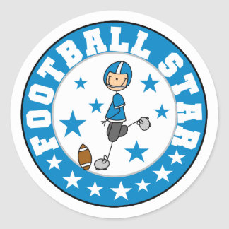 Football Star Tshirts and Gifts Classic Round Sticker