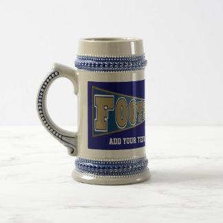 FOOTBALL Stein Gold and Blue - SRF Coffee Mugs