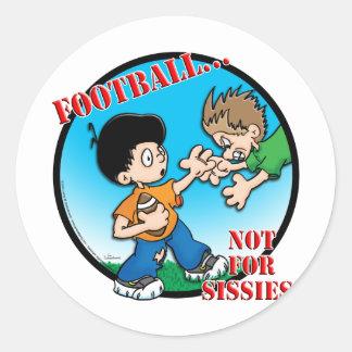 Football Round Stickers