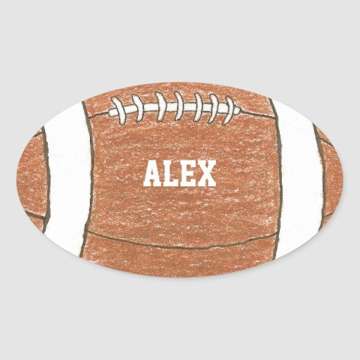 Football sticker with name