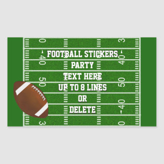Football Stickers with Up to 8 Lines of YOUR TEXT