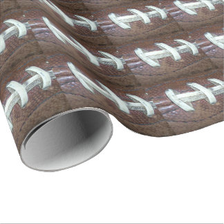 Football Stitches Wrapping Paper