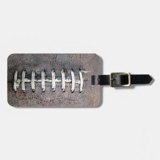 Football Strings horizontal Bag Tag