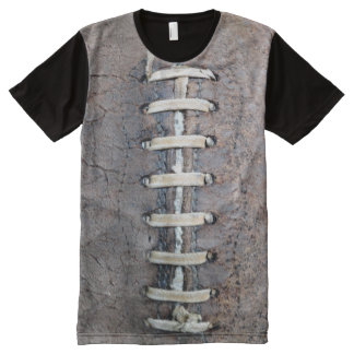 Football Strings vertical All-Over Print T-shirt