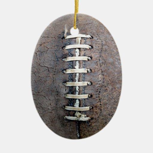 Football strings vertical christmas tree ornaments zazzle