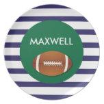 Football Stripes - Personalized Melamine Plate
