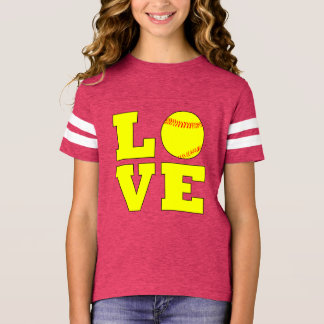 Football Style Girls Fastpitch Love Jersey Shirt