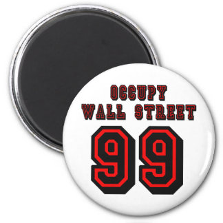 Football style: Occupy Wall Street - 99 Magnet