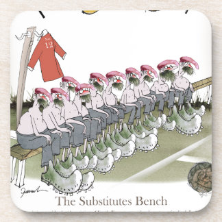 football-substitutes red teams drink coaster