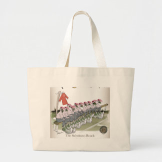 football-substitutes red teams large tote bag