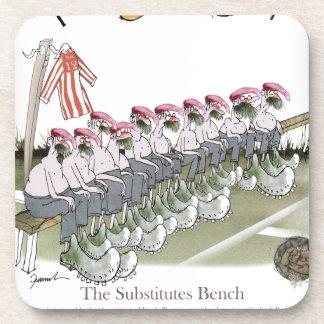 football substitutes red white stripe coaster