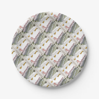 football substitutes red white stripe paper plate