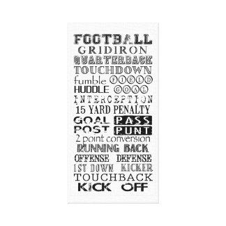 Football Subway Art Canvas Print