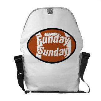 Football Sunday Funday Weekend Warrior Football Courier Bag