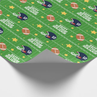 Football Super Star Wrapping Paper
