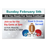 Football Superbowl Party Custom Announcements
