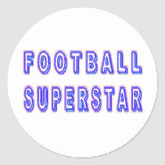 Football Superstar Classic Round Sticker